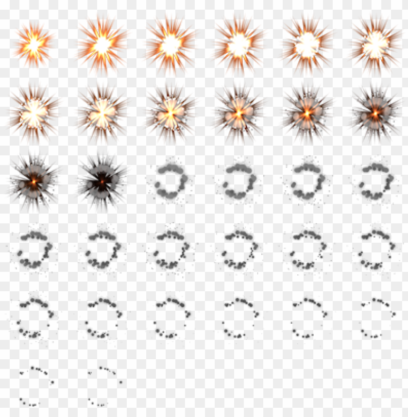 b - explosion sprite sheet 2d PNG image with transparent