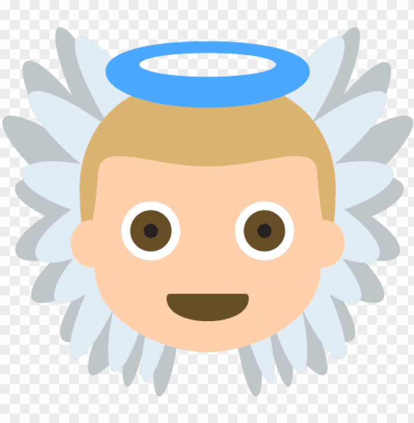 free PNG baby angel tone 2 emoji emot vector icon - cara de angel PNG image with transparent background PNG images transparent