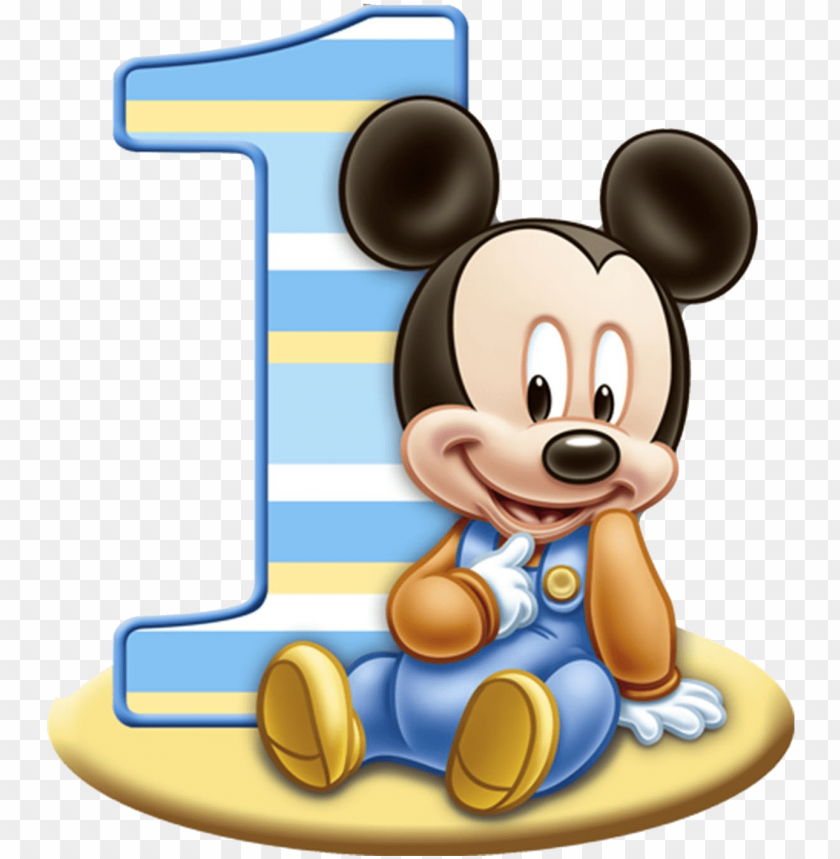 free PNG baby mickey mouse 1st birthday PNG image with transparent background PNG images transparent