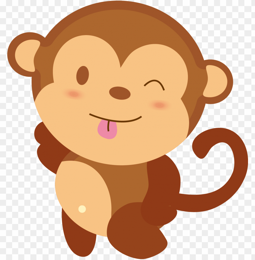 Baby Monkey Cute Cartoon Png Image With Transparent