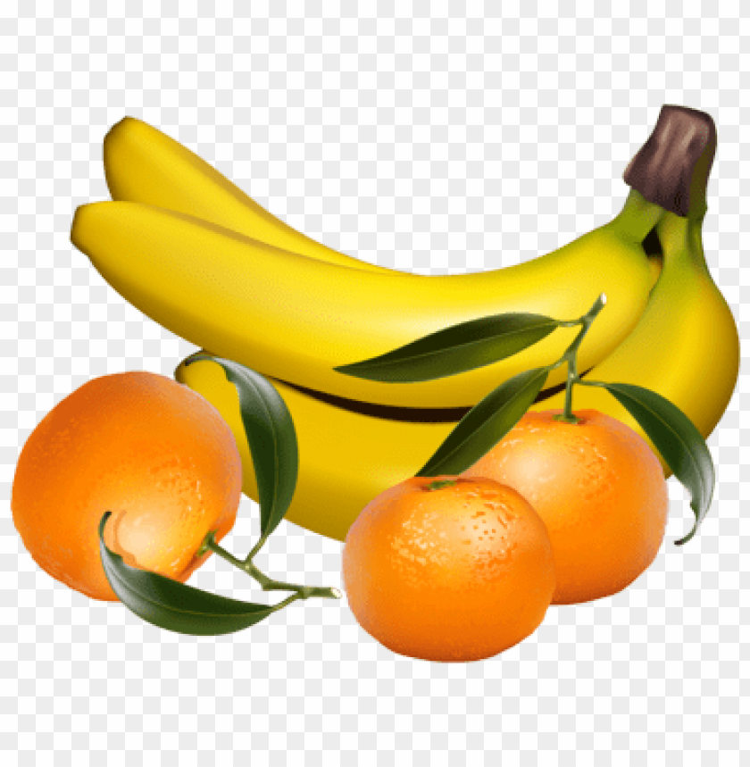 free PNG bananas and tangerines PNG images transparent