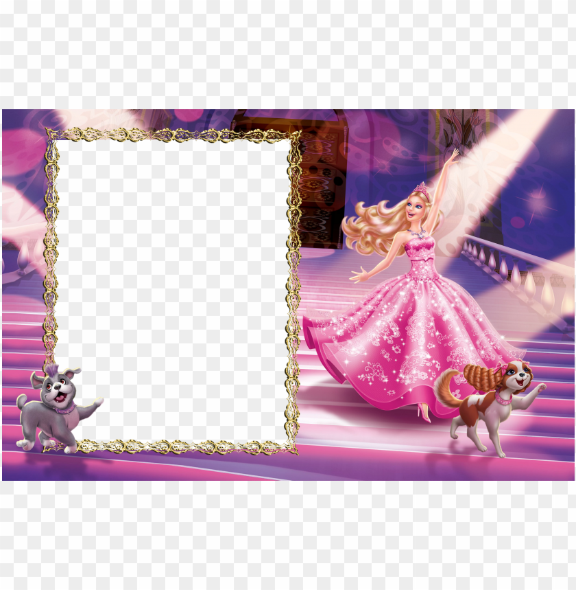 free PNG barbie clip borders freeuse download - barbie frames and borders PNG image with transparent background PNG images transparent