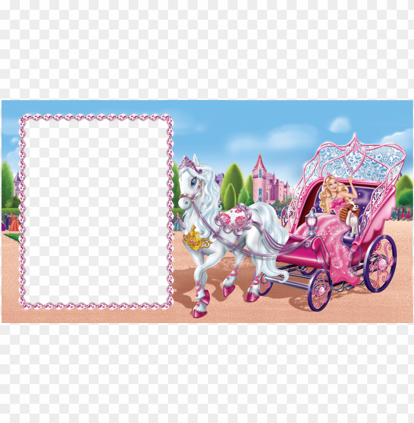 barbie cute transparent photo frame png free png images toppng