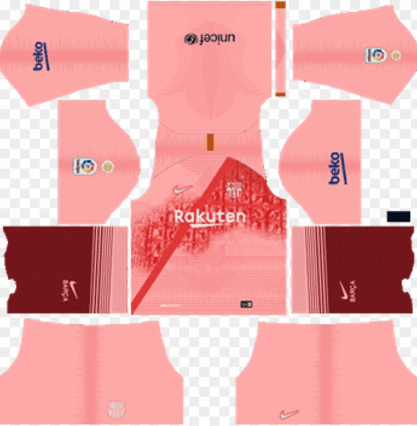 hot sale online aad0a b485f barcelona third kit 2018-19 dream league soccer kits - kit ...