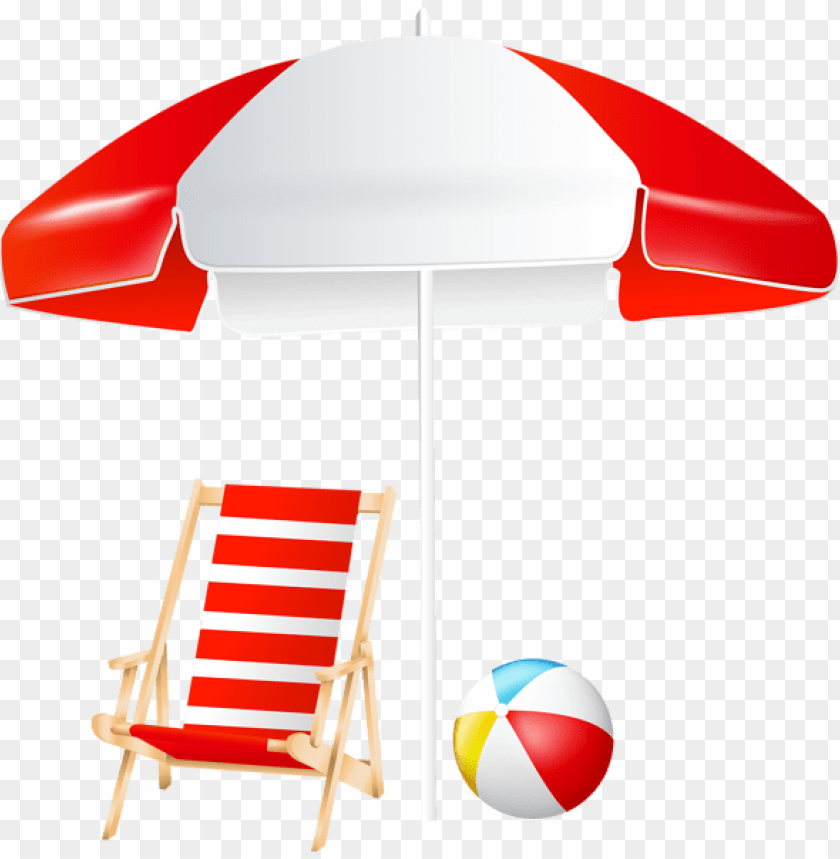 Download Beach Umbrella Chair And Ball Clipart Png Photo Toppng