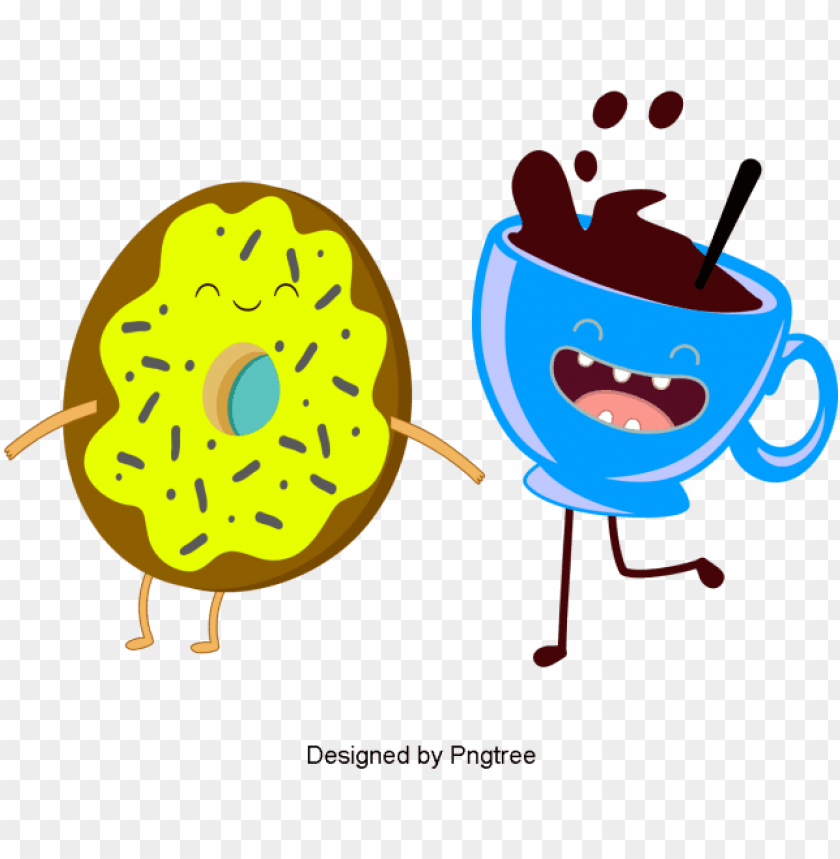 free PNG beautiful cartoon lovely hand-painted coffee food drink - portable network graphics PNG image with transparent background PNG images transparent