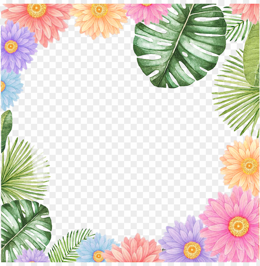 free PNG beautiful little fresh border vector material, flower - cheap throw pillow pillowcase western pastorale country PNG image with transparent background PNG images transparent