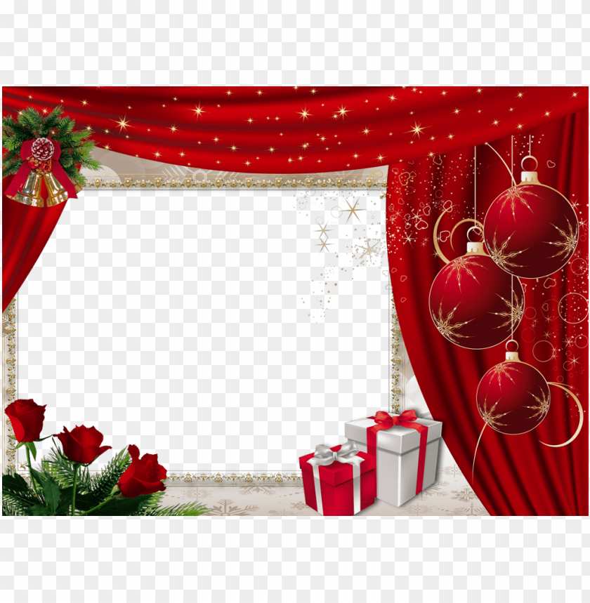 free PNG beautiful red christmasframe with roses background best stock photos PNG images transparent