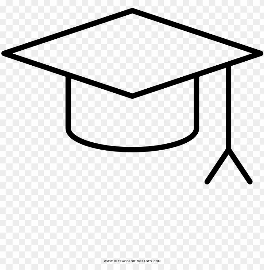 Download Birrete Página Para Colorear Square Academic Ca