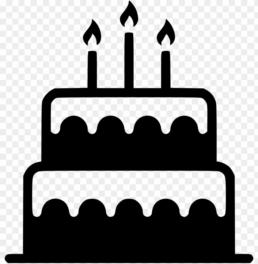 Birthday Cake Candle Sweet Dessert Comments Birthday Cake Svg File