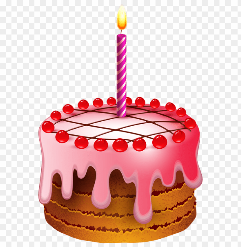 Download Birthday Cake With Candle Transparent Png Images Background
