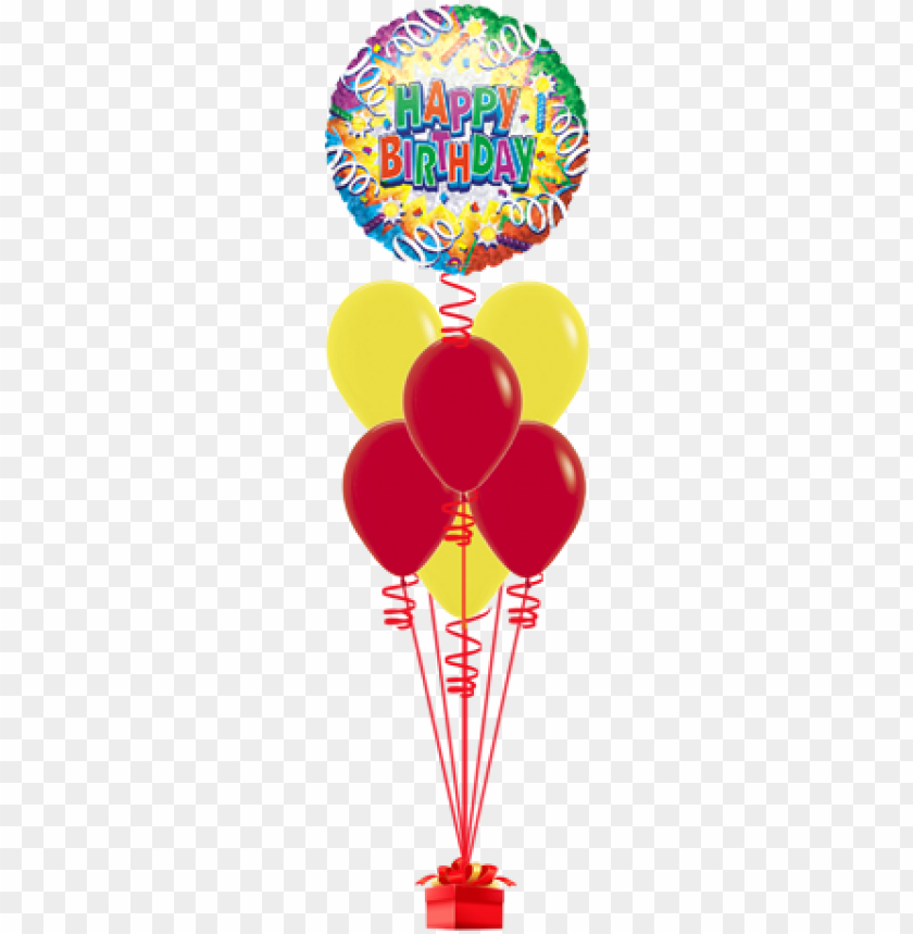 free PNG birthday explosion 46cm happy birthday foil balloon PNG image with transparent background PNG images transparent
