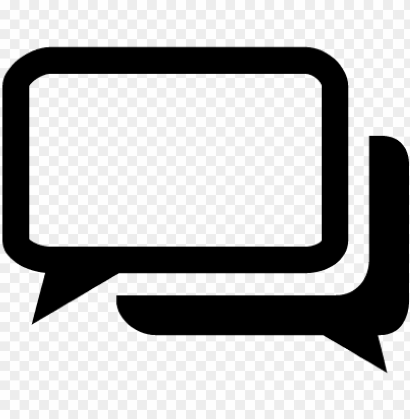 Black And White Chat Bubbles Vector White Chat Icon Png Image With Transparent Background Toppng
