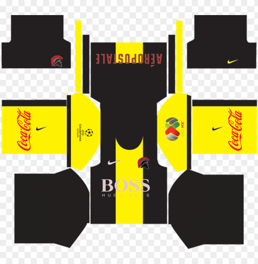 black and yellow kit dream league PNG image with transparent