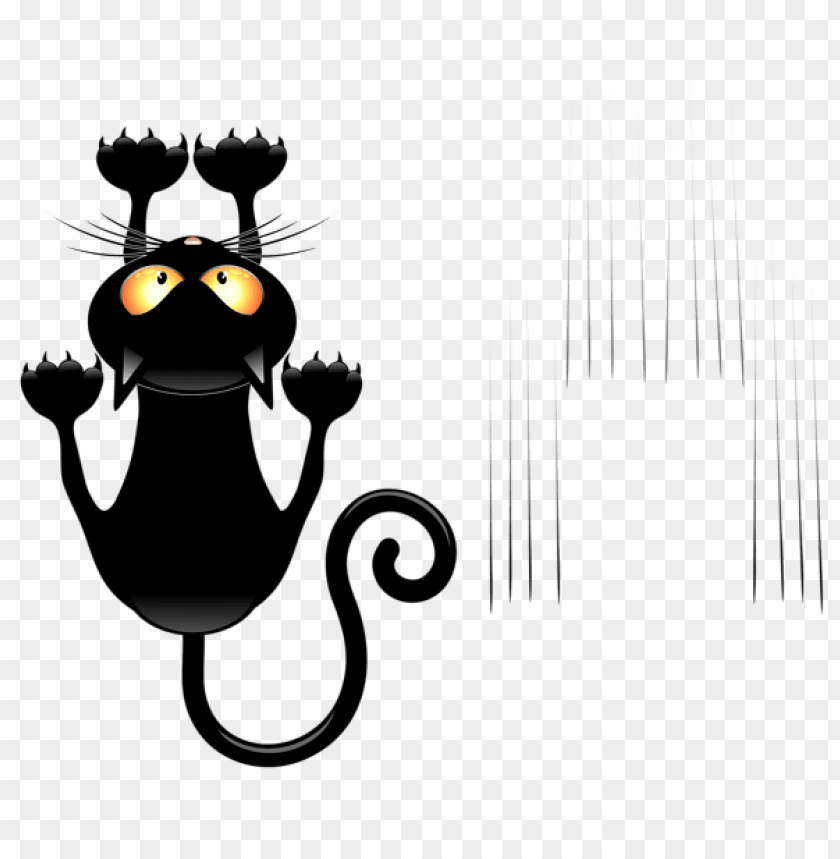free PNG Download black cat and scratches transparent vector png images background PNG images transparent