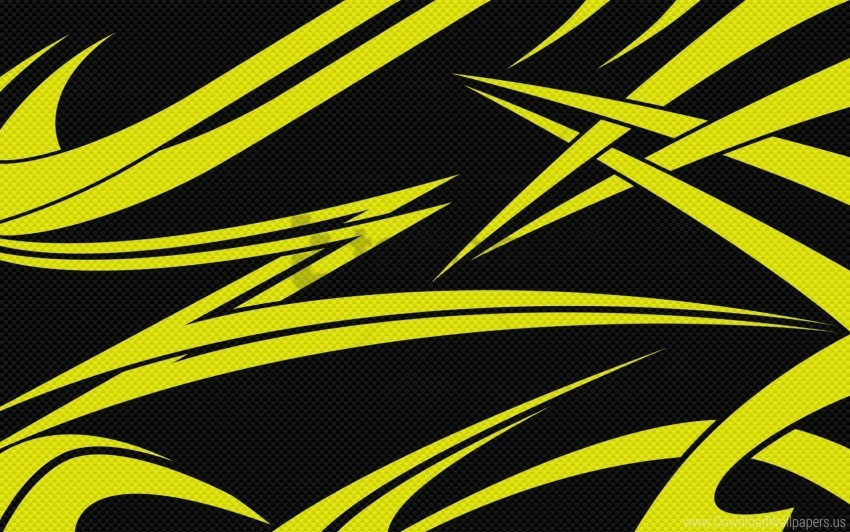 Black Lines Sharp Yellow Wallpaper Background Best Stock