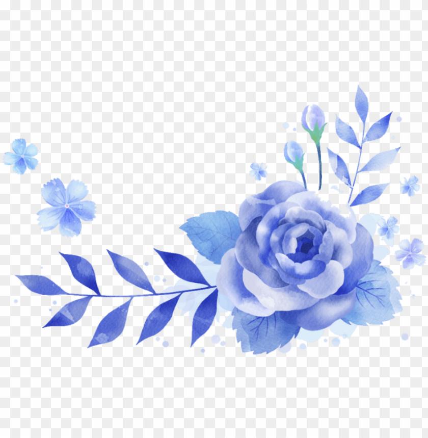 free PNG bloom flower blue frame border flowers white bouquet - blue flower png hd border PNG image with transparent background PNG images transparent