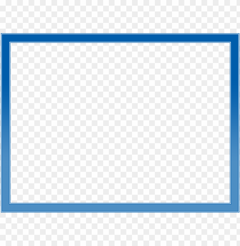 blue border frame png free png images toppng