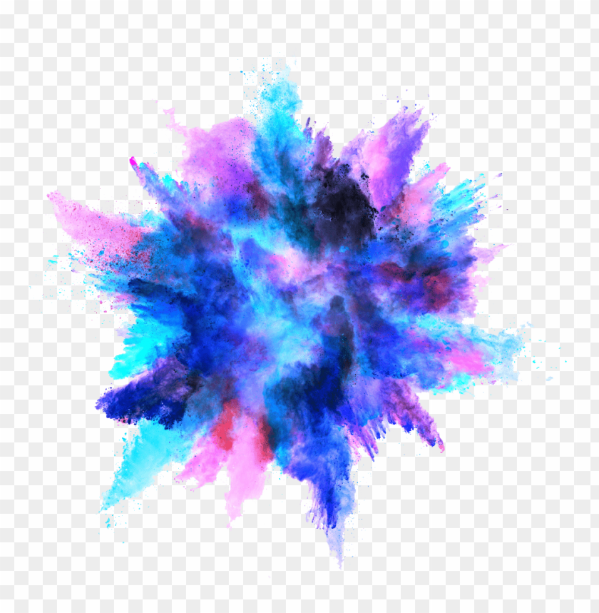 free PNG blue color powder explosion png - Free PNG Images PNG images transparent