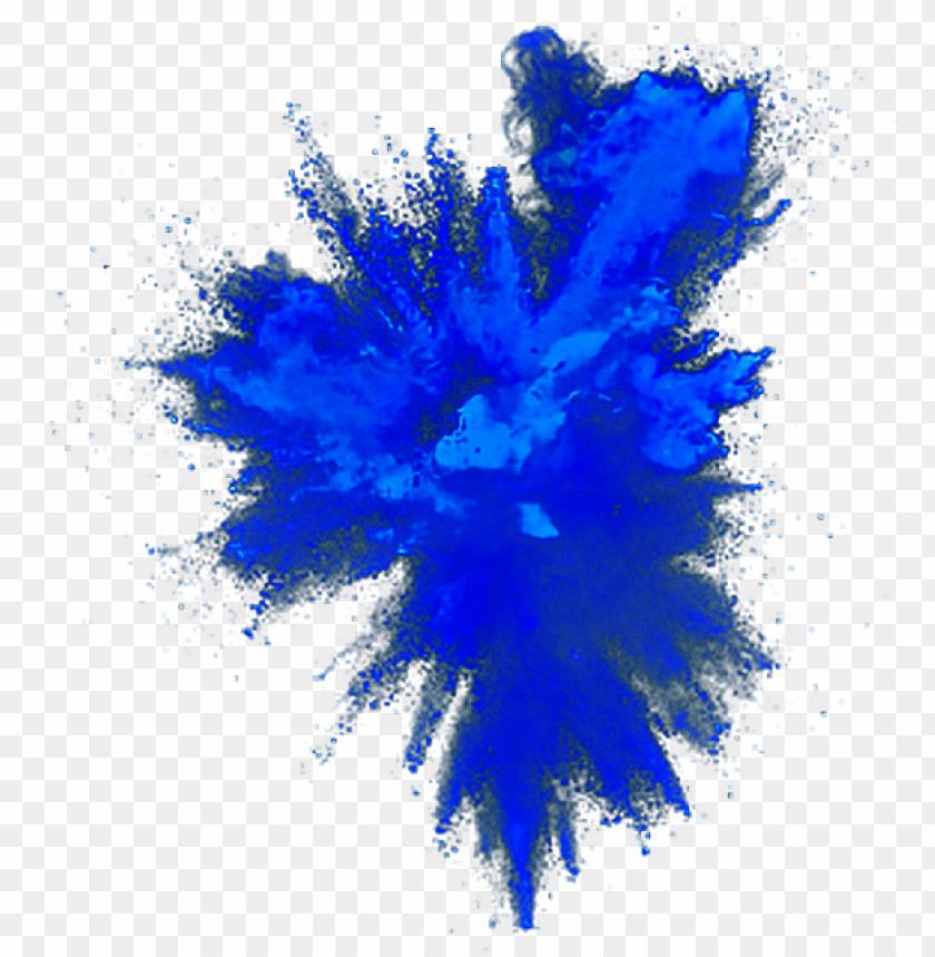 free PNG blue explosion powder - blue powder explosion PNG image with transparent background PNG images transparent