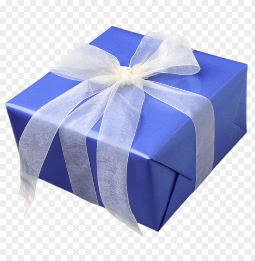 free PNG blue gift box with white ribbon PNG image with transparent background PNG images transparent