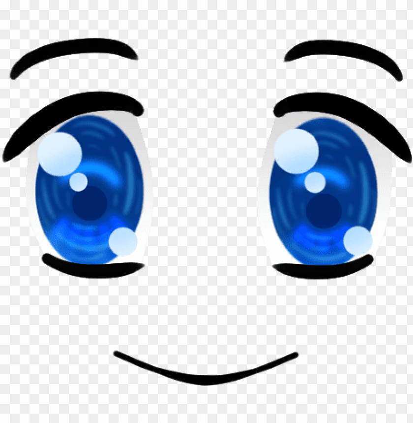 Blue Happy Anime Face Anime Happy Face Clip Art Png Image With