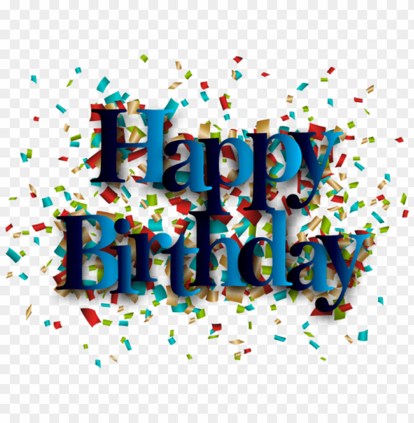Download blue happy birthday png images background | TOPpng