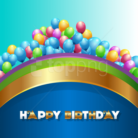 free PNG blue happy birthdaywith balloons background best stock photos PNG images transparent