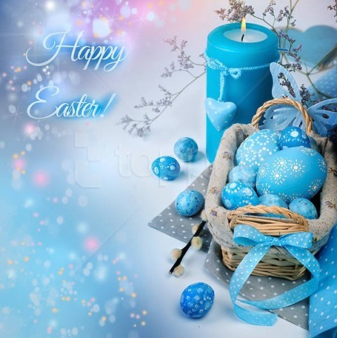 free PNG blue happy easter background best stock photos PNG images transparent