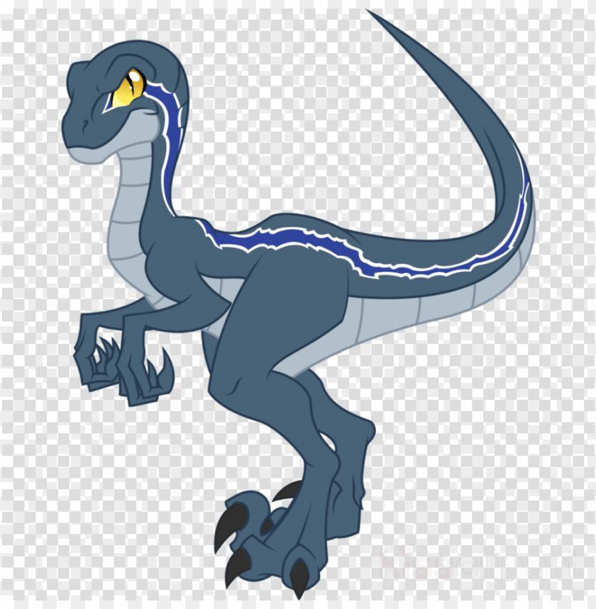blue jurassic world vector clipart velociraptor