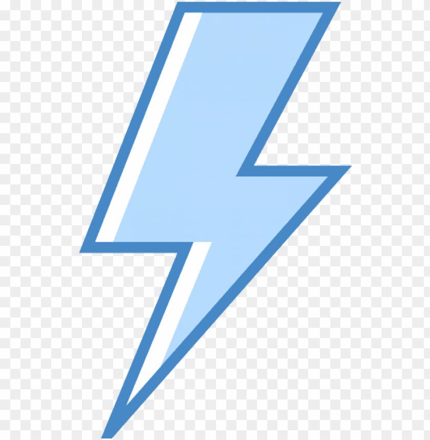 Blue Lightning Bolt Png Lighting Symbol Image With