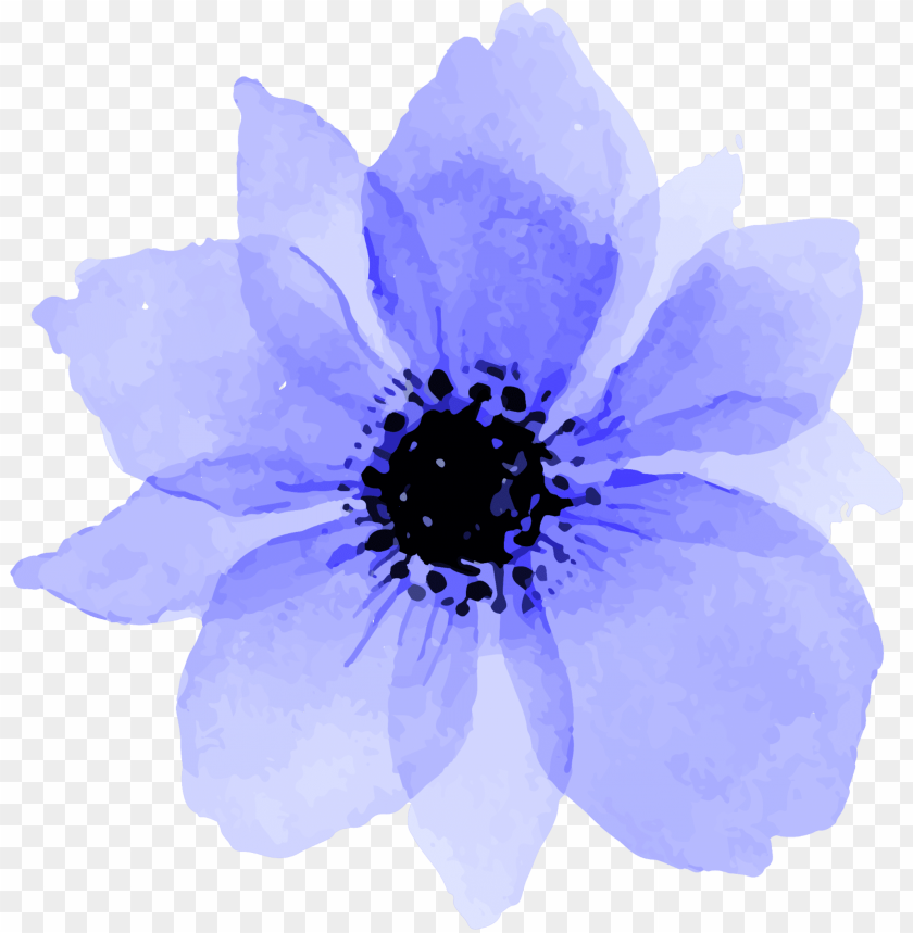 Blue Purple Flowers Flower Tumblr Aesthetic Watercolor Hot