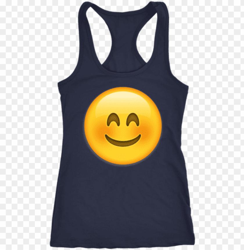 blush emoji tank top - shirt PNG image with transparent