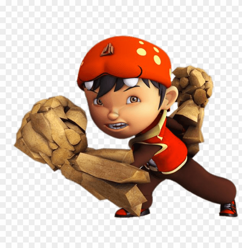 free PNG Download boboiboy with wooden fists clipart png photo   PNG images transparent
