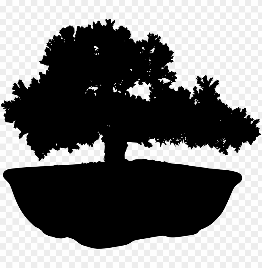 free png bonsai silhouette PNG images transparent