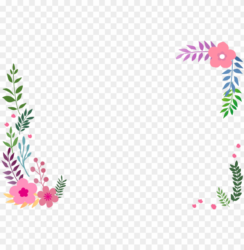 free PNG borders and frames flower petal clip art - 無料 イラスト 花 フレーム PNG image with transparent background PNG images transparent