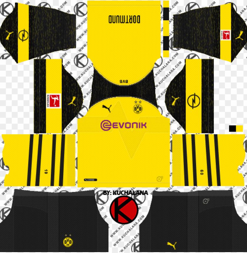 timeless design 9de76 1791b borussia dortmund 2018/19 kit - dream league soccer kit ...