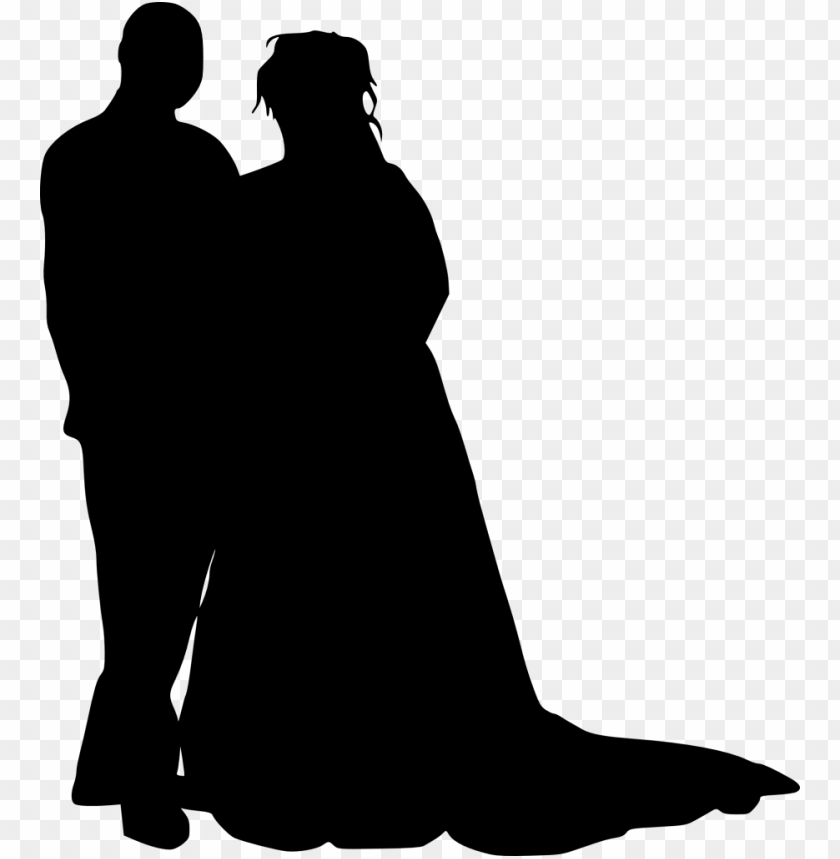 free PNG bride and groom silhouette png - Free PNG Images PNG images transparent