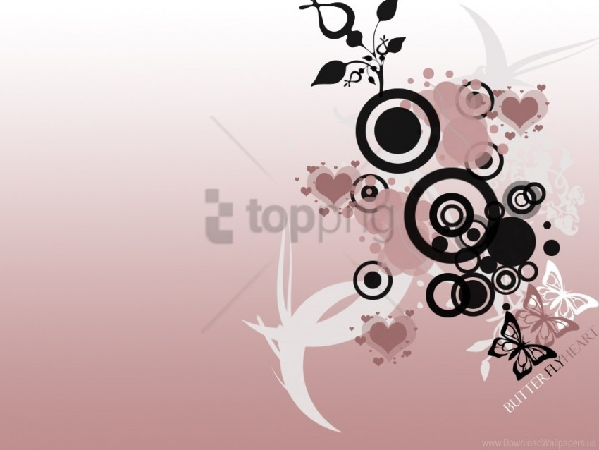 free PNG butterfly, heart, vector wallpaper background best stock photos PNG images transparent