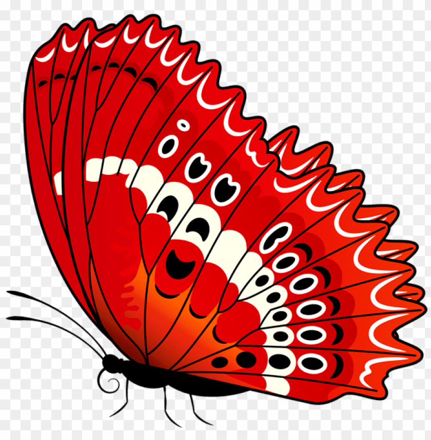 Download Butterfly Red Transparent Clipart Png Photo Toppng