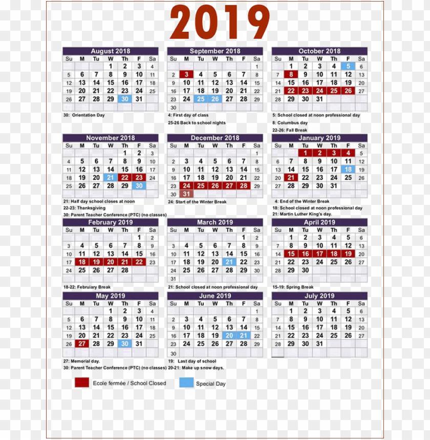 free PNG calendar 2019 colorful png PNG images transparent