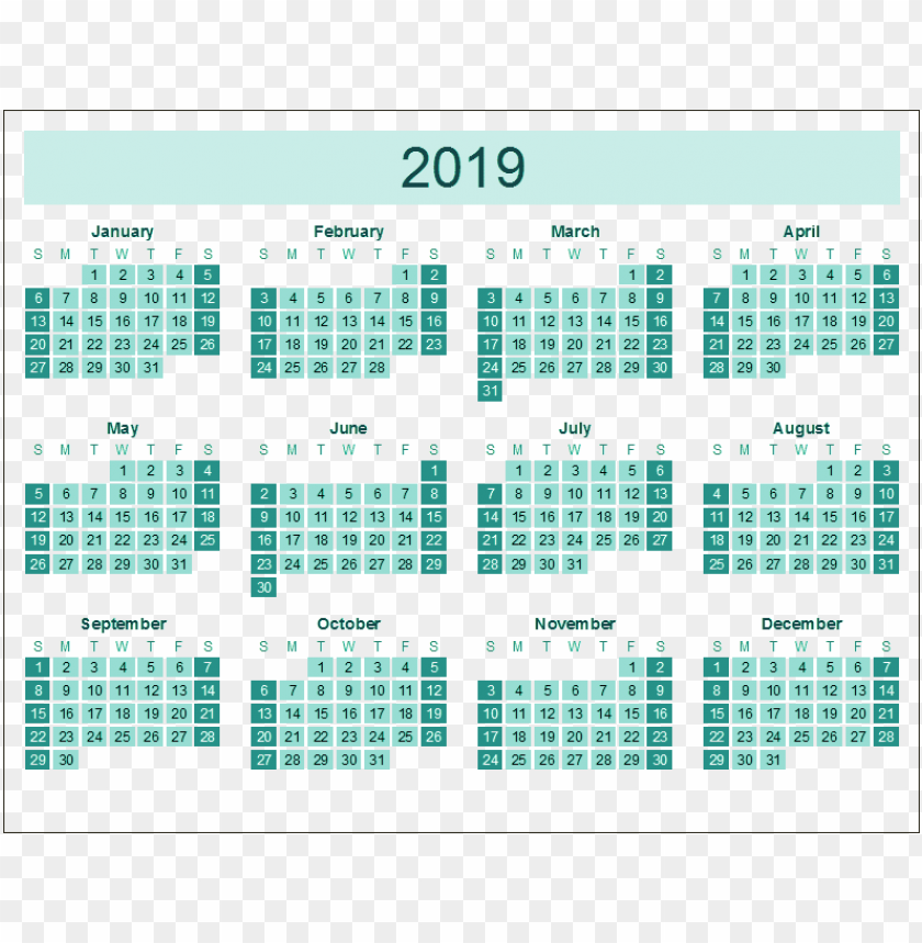 free PNG Download calendar 2019 green png png images background PNG images transparent