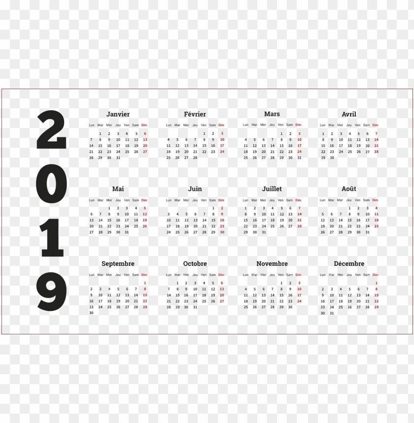 free PNG calendar 2019 hd s PNG images transparent