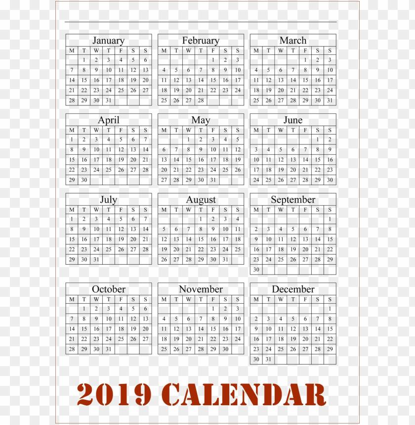 free PNG Download calendar 2019 png png images background PNG images transparent