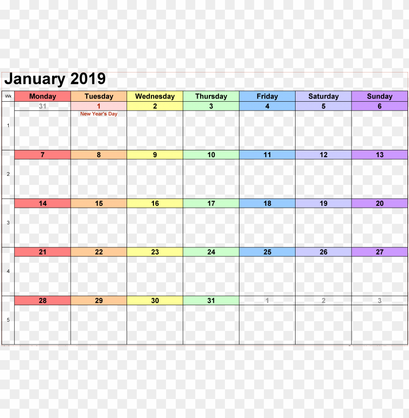 free PNG Download calendar 2019 rainbow png png images background PNG images transparent