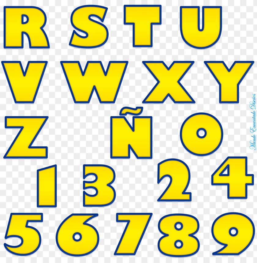 cantata mundi - alfabetos - font - letras estilo toy story