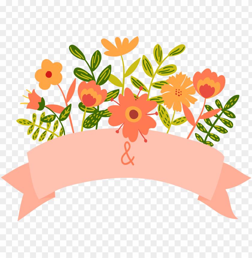 free PNG cartoon floral wedding invitation transprent free download - floral wedding wedding invitation PNG image with transparent background PNG images transparent