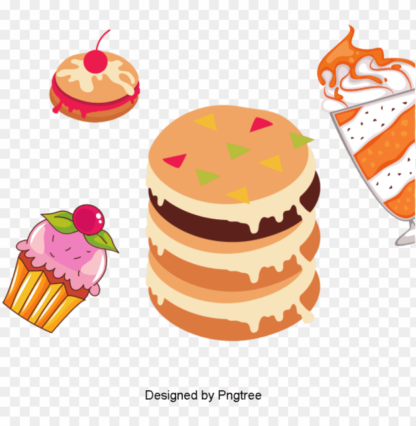 free PNG cartoon hand-painted dessert food, dessert, gourmet, - portable network graphics PNG image with transparent background PNG images transparent
