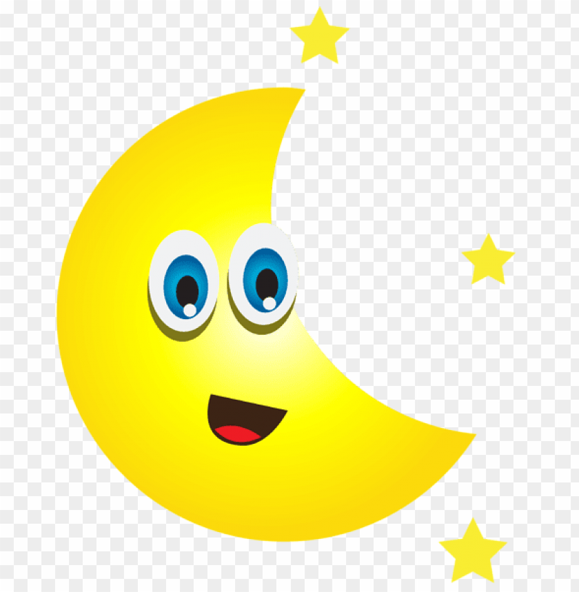 free PNG Download cartoon moon with stars clipart png photo   PNG images transparent