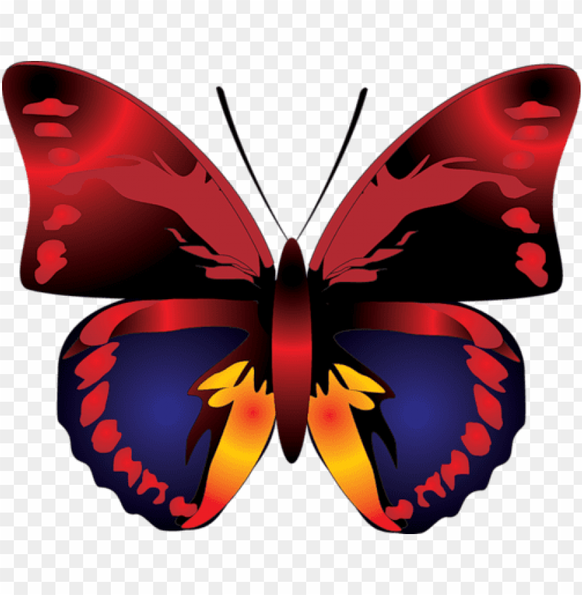 Download Cartoon Red Butterfly Clipart Png Photo Toppng